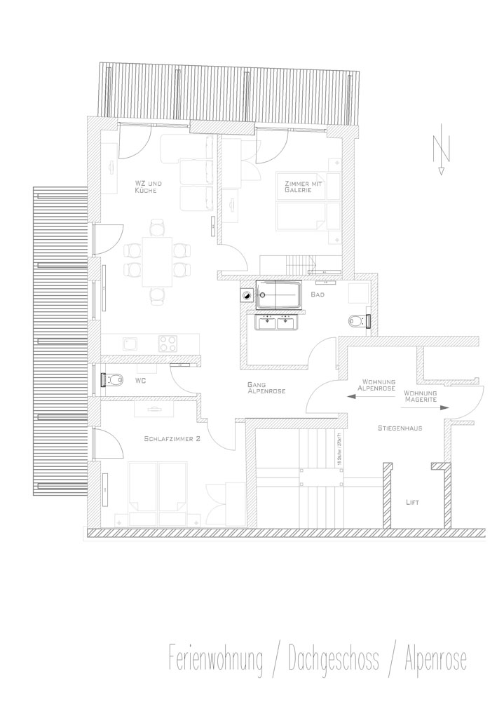 floor plan apartment Alpenrose Sattlerhof Mutters