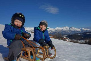 Tobogganing fun on Mutters Adventure Mountain